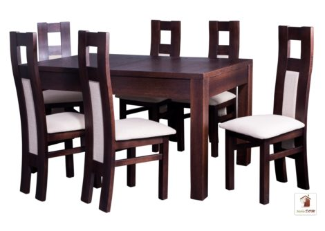 Prostokątny stół rozkładany do salonu i jadalni Strong z krzesłami Open 1 II