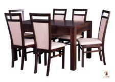 Prostokątny stół rozkładany do salonu i jadalni Strong z krzesłami Open
