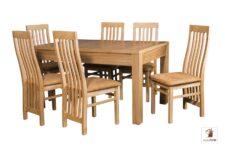 Prostokątny stół rozkładany do salonu i jadalni Strong z krzesłami Igor