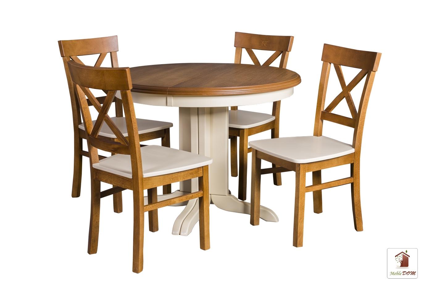 Okrągły Stół Rozkładany Rocabilly Elegant Z Krzesłami Nord