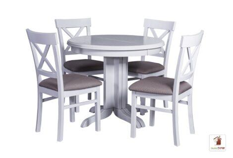 Okrągły stół rozkładany w stylu skandynawskim ROCABILLY Elegant z krzesłami Nord One