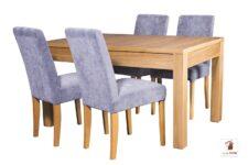 Prostokątny stół rozkładany do salonu i jadalni Strong z krzesłami CC-1