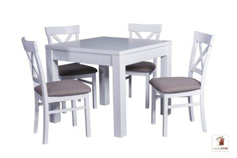 Kwadratowy stół rozkładany w stylu skandynawskim Strong Square z krzesłami Nord One