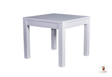 Kwadratowy stół rozkładany biały w stylu skandynawskim STRONG SQUARE