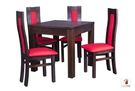 Kwadratowy stół rozkładany Strong Square SKK-71 z krzesłami Open3 KKT-37