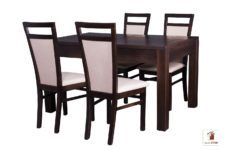 Prostokątny stół rozkładany do salonu i jadalni Strong z krzesłami Paloma