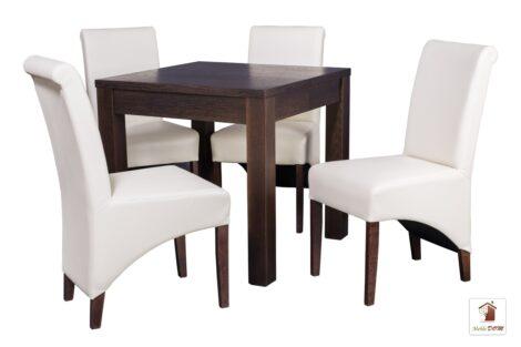 Kwadratowy stół rozkładany do salonu i jadalni Strong Square z krzesłami CC-4