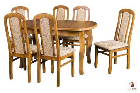 Prostokątny stół rozkładany do salonu i jadalni SWAN ELEGANT z krzesłami CEZARY