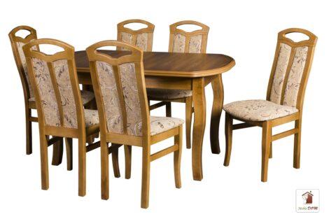Prostokątny stół rozkładany do salonu i jadalni SWAN ELEGANT z krzesłami JAKUB