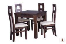 Kwadratowy stół rozkładany do salonu i jadalni Strong Square z krzesłami Open1