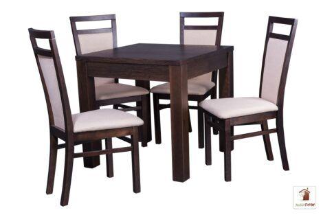 Kwadratowy stół rozkładany do salonu i jadalni Strong Square z krzesłami Paloma