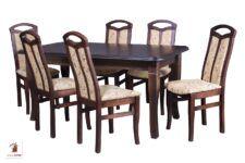 Prostokątny stół rozkładany do salonu i jadalni Diament z krzesłami Jakub
