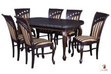 Prostokątny stół rozkładany do salonu i jadalni LUDWIK z krzesłami BORA