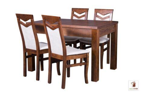 Prostokątny stół rozkładany Strong z krzesłami Daniel
