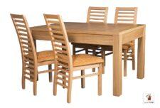 Prostokątny stół rozkładany Strong z krzesłami Iwo