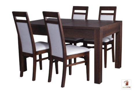 Prostokątny stół rozkładany Strong z krzesłami Laguna II
