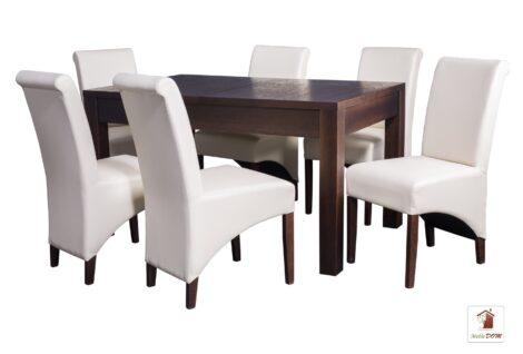 Prostokątny stół rozkładany Strong z krzesłami CC-4
