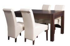 Kwadratowy stół rozkładany Strong z krzesłami CC-4