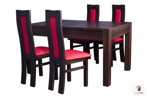 Prostokątny stół rozkładany Strong z krzesłami Open3