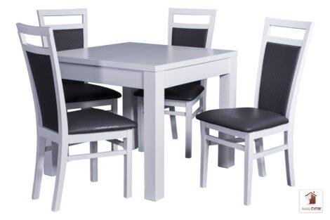 Prostokątny stół rozkładany biały Strong Square z krzesłami Paloma
