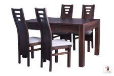 Prostokątny stół rozkładany biały Strong Square z krzesłami Design1
