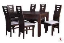 Prostokątny stół rozkładany biały Strong z krzesłami Design1