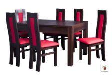 Kwadratowy stół rozkładany Strong z krzesłami Open3