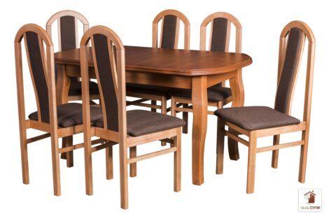 Prostokątny stół rozkładany Swan Elegant z krzesłami Nicea