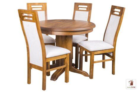 Okrągły stół rozkładany ROCKABILLY z krzesłami ROTTERDAM