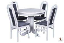 Okrągły stół rozkładany Rocabilly z krzesłami Dar