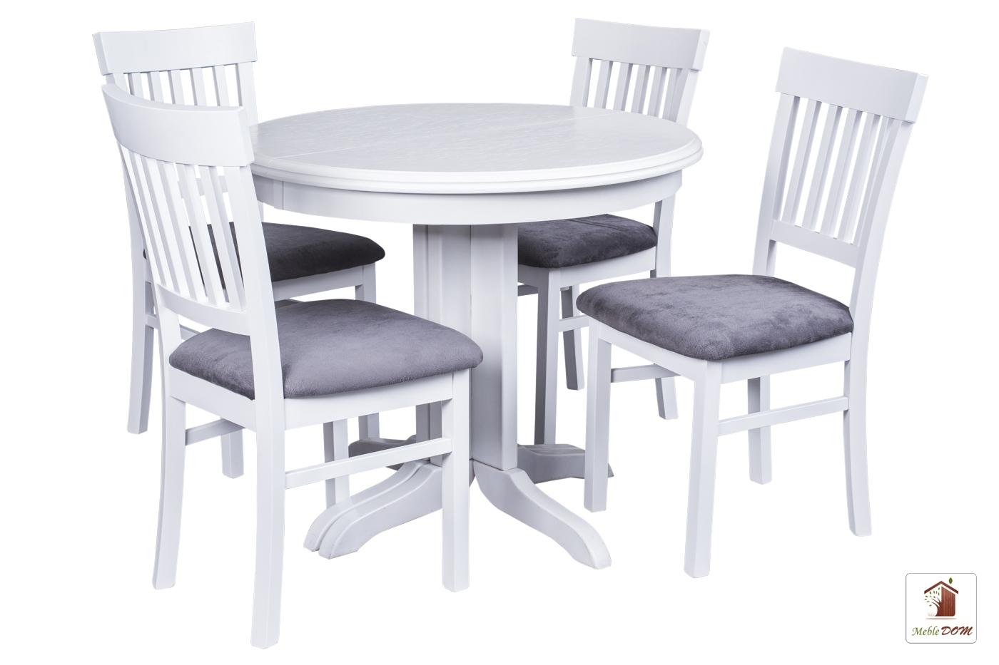Okrągły Stół Rozkładany Rocabilly Elegant Z Krzesłami Milano