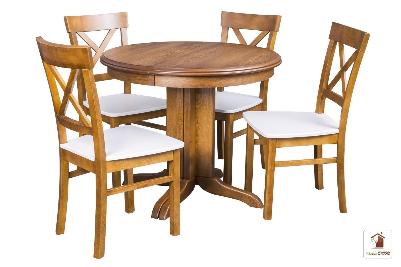 Okrągły Stół Rozkładany Rocabilly Elegant Z Krzesłami Nord Ii