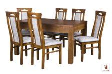 Kwadratowy stół rozkładany STRONG SQUARE II z krzesłami BOGDAN