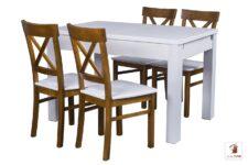 Kwadratowy stół rozkładany STRONG SQUARE z krzesłami NORD