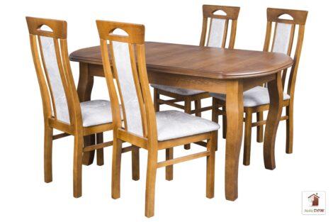 Prostokątny stół rozkładany Swan Elegant z krzesłami Bogdan