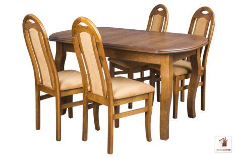 Prostokątny stół rozkładany Swan Elegant z krzesłami Dar Simple