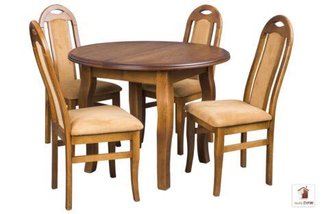 Okrągły stół rozkładany Swan Elegant z krzesłami Dar Simple