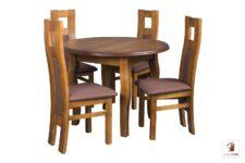 Okrągły stół rozkładany Swan Elegant z krzesłami Open 1