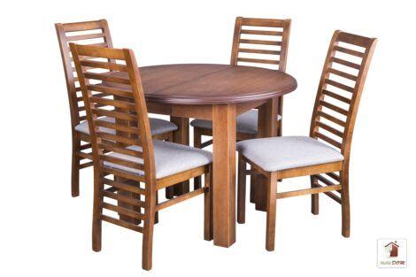 Okrągły stół rozkładany PORTO Elegant z krzesłami Iwo