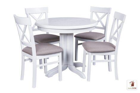 Okrągły stół rozkładany ROCKABILLY z krzesłami NORD ONE