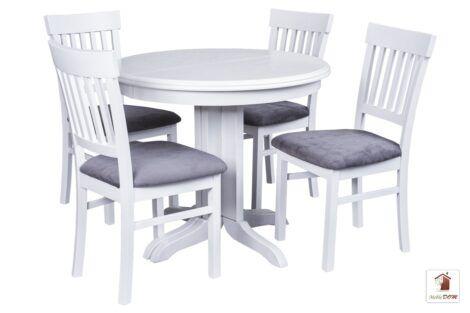 Okrągły stół rozkładany Rocabilly z krzesłami Milano