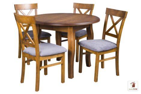 Okrągły stół rozkładany SWAN Elegant z krzesłami NORD ONE