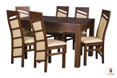 Kwadratowy stół rozkładany STRONG SQUARE II z krzesłami EDWARD