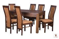Kwadratowy stół rozkładany STRONG SQUARE II z krzesłami FALA