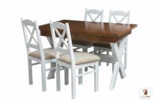 Prostokątny stół rozkładany Malmo z krzesłami Nord Mini