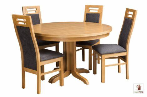 Okrągły stół ROCKABILLY Flat z krzesłami Rotterdam