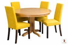 Okrągły stół ROCKABILLY Flat z krzesłami CC-1
