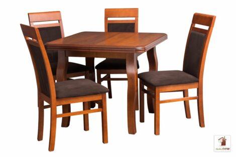 Stół kwadratowy SWAN z krzesłami MAY SIMPLE