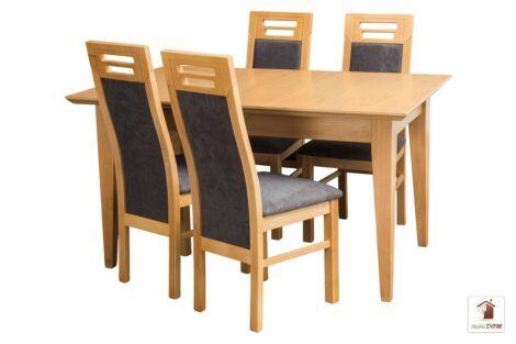 Stół rozkładany prostokątny MADRID z krzesłami MAY