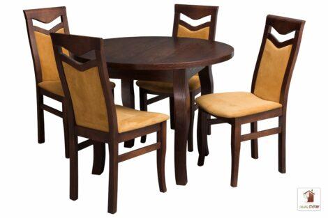 Stół okrągły SWAN102 krzesła Daniel
